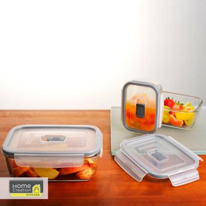 [Aldi Nord ab 27.03.2017] Frischhaltdosen-Set aus Glas 3tlg (Für Mikro, Backofen, SpüMa und Gefrierschrank)