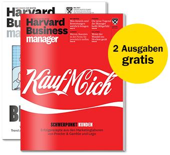 2 Ausgaben Harvard Business Manager kostenlos testen - VGP 14,50 pro Ausgabe - keine Kündigung notwendig