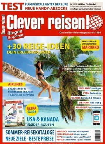 """aktuelles epaper von """"Clever reisen!"""" kostenlos - nur heute"""