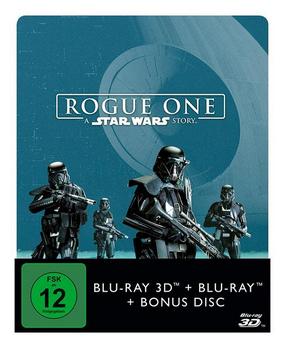 Rogue One (3D Blu-ray + 2D Blu-ray + Bonus Disc) Steelbook für 24,89€ (Thalia)