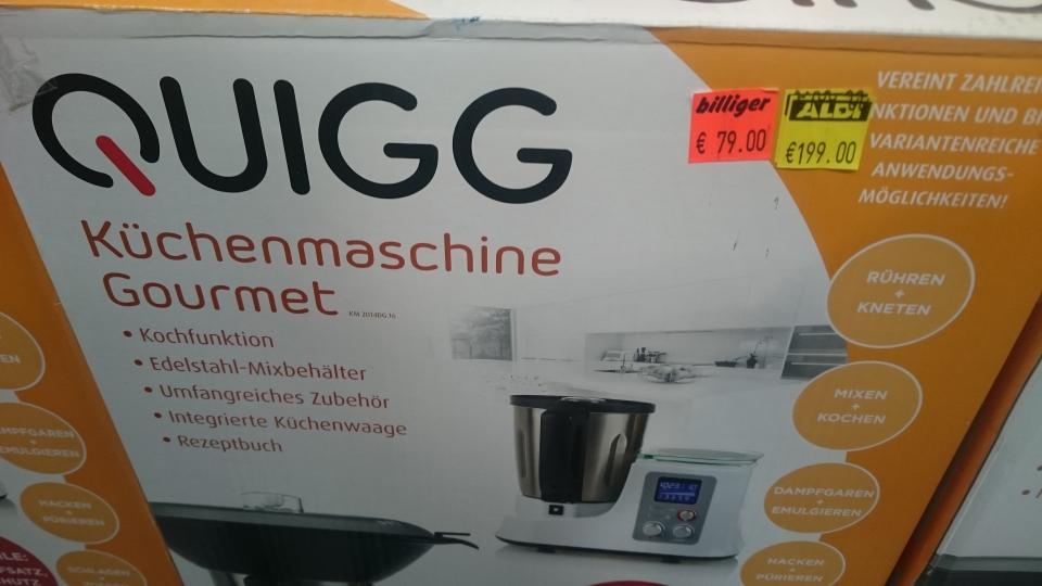 Quigg Küchenmaschine Gourmet (billige Thermomix Alternative)[Lokal]