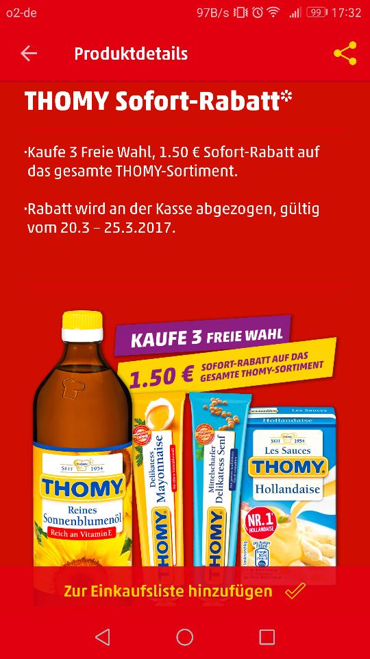 [Penny] 3x Thomy Sauce Hollandaise für 1,14€ statt 2,64 € (evtl. bundesweit)