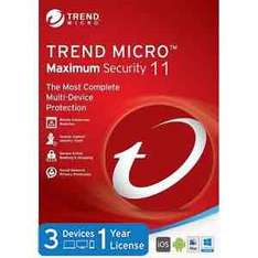 Trend Micro Maximum Security 11 2017 1 Year 3 Devices