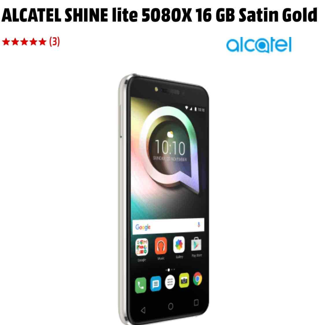 Alcatel Shine Lite TOP Preis 166 € - Lokal Media Markt Nordhorn