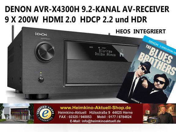 Abgelaufen - Denon AVR-X4300H AV Receiver in schwarz für 999€ @Heimkino Aktuell - Bestpreis inkl. Versand