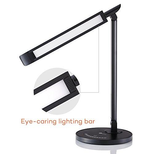 Amazon - TaoTronics 12W Schreibtischlampe mit USB Ladefunktion - bis 11 Uhr statt 34,99€
