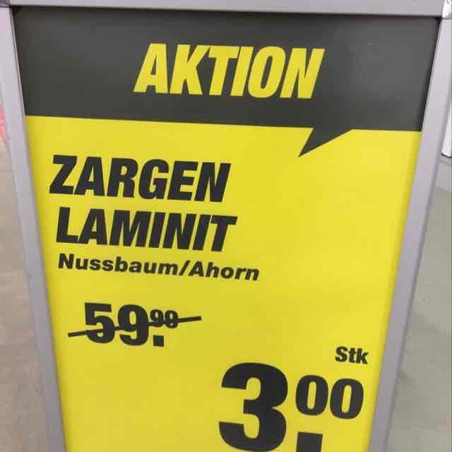 Türzargen Nussbaum Ahorn im toom Münster