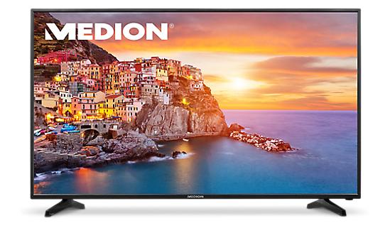 """138,4 cm (55"""") Ultra HD TV Medion P18090 (MD 31179), HD Triple Tuner mit DVB-T2, 100 Hz (interpoliert), 3x HDMI, USB 3.0 für 444 € @ medionshop bzw. ebay"""
