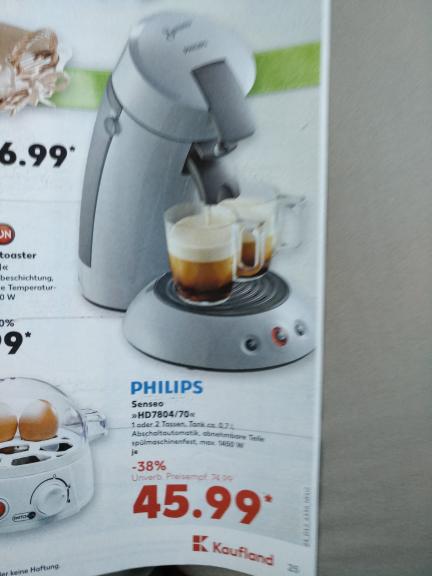 [Kaufland] Philips Senseo HD7804/70