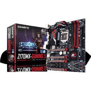 Gigabyte GA-Z170MX-Gaming 5 (So. 1151 Kaby Lake + Skylake, mATX, 4x DDR4, 3x PCIe x16, M.2, USB Typ-C, Nvidia SLI + AMD CrossFireX) für 110,89€ [Mindfactory]