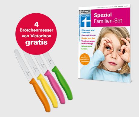 6 Ausgaben Stiftung Warentest für 25€ statt 34,50€ mit 2 Prämien: Victorinox Brotmesser 4 Stück (PVG ca 15€) und Sonderheft Spezial Familienset (PVG 12,90€)