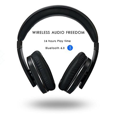 (Prime) iDeaUSA Bluetooth Kopfhörer, Stereo Drahtloser Kopfhörer mit Bluetooth 4.0, eingebautem Mikrofon und Apt-X Technologie, geeignet für Apple iOS/Android Geräte, Tablets, Notebooks, TV – Schwarz@Amazon.de 39,99 €