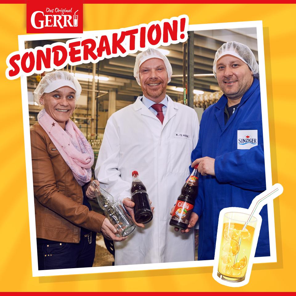 [Sinzig bei Bonn] Eine von 222 Kisten GERRI Limonade geschenkt