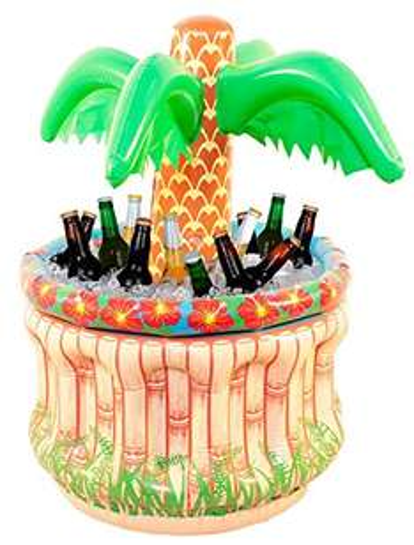 Amazon Plus Produkt - Aufblasbare Palme mit Kühler - cool für alle Grill oder Beachpartys