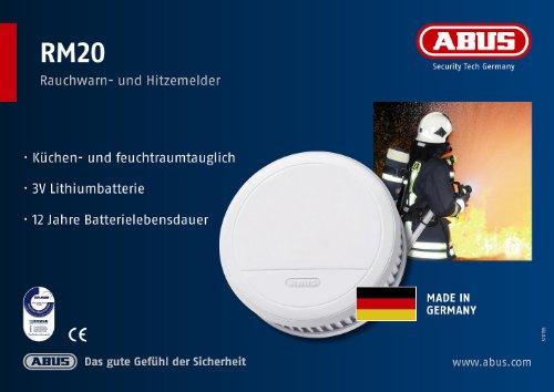 [Amazon Blitzangebot] ABUS Rauchmelder/ Hitzewarnmelder RM20 55047