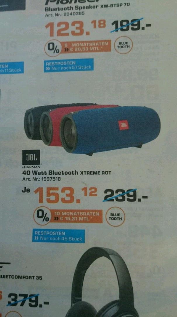 [Saturn lokal?] Osnabrück JBL Xtreme Bluetooth Speaker