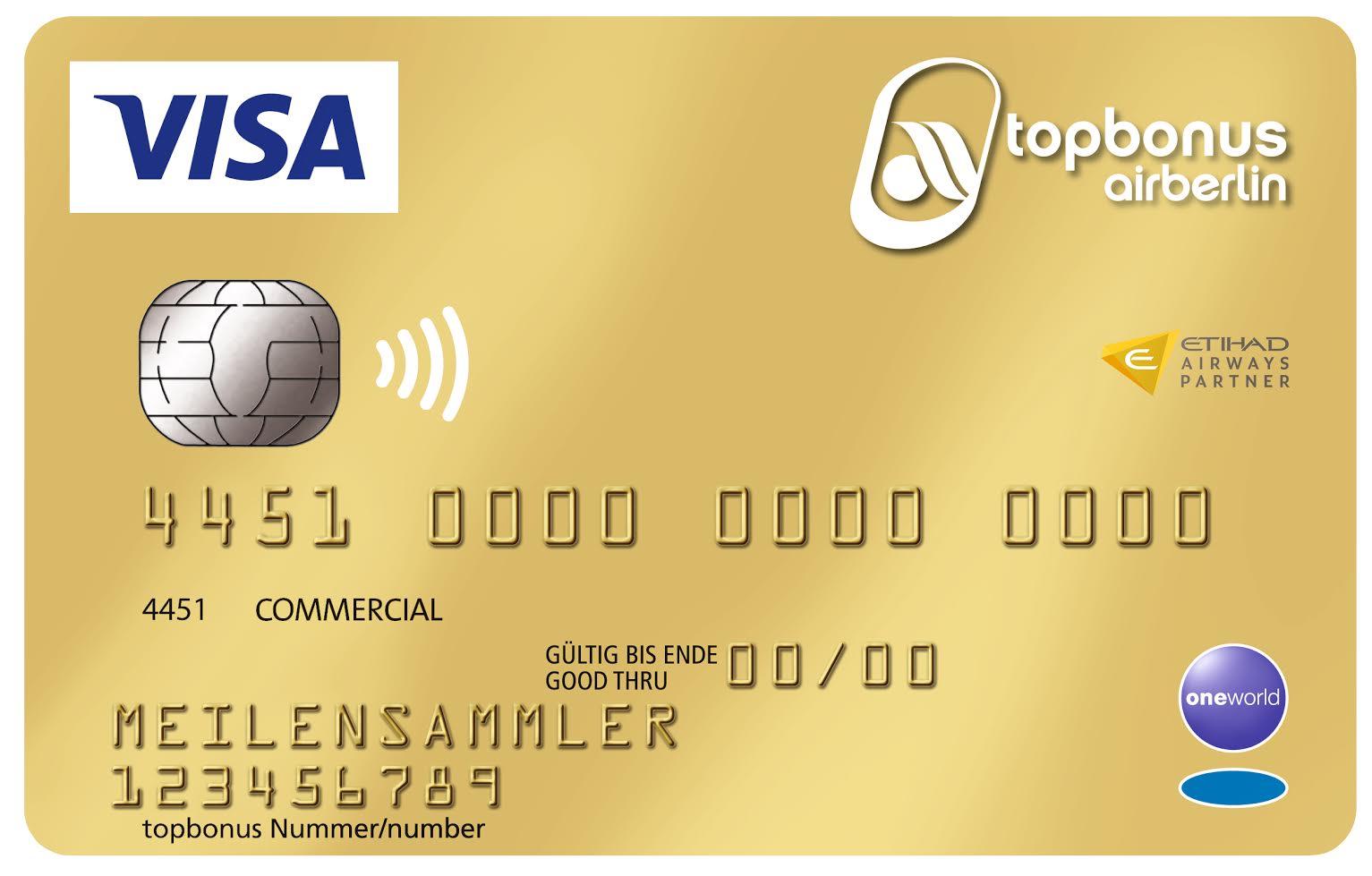 Airberlin Kreditkarte erstmalig mit 12.000 Meilen für den Werber + im ersten Jahr Beitragsbefreiung für den Geworbenen (Karte zum Status und Meilen sammeln)