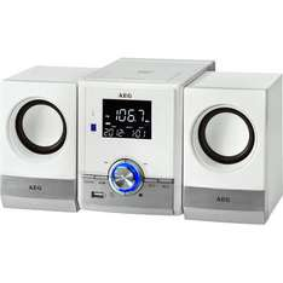 [büroshop24] AEG MC 4461 BT Kompaktanlagen weiß mit Bluetooth, MP3 und CD