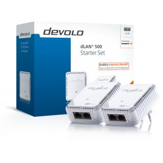 DEVOLO Powerline DLAN 500 Starter Set für nur 36€