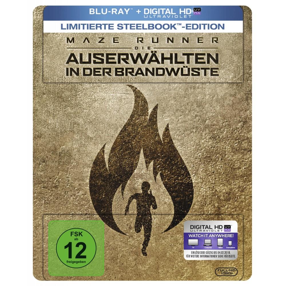 Maze Runner - Die Auserwählten in der Brandwüste (Steelbook Blu-ray) für 9,99€ (Müller)
