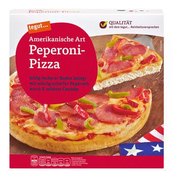tegut Amerikanische Art Peperoni-Pizza für 99 Cent statt 2,49€
