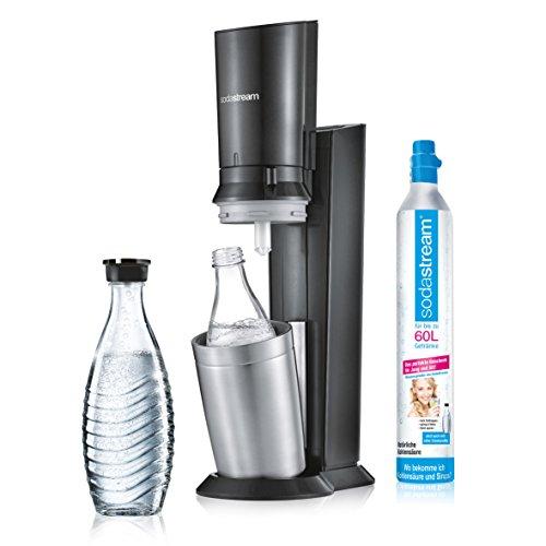 SodaStream CRYSTAL 2.0  inkl. 1 Zylinder und 2 Glaskaraffen