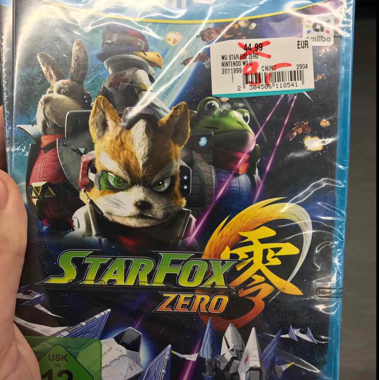 Star Fox Zero Nintendo Wii u für 9€ Media Markt Henstedt Uelzburg