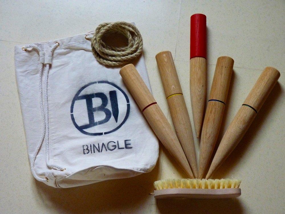 Binagle/Spachteln/Spachtle - Outdoorspiel aus Holz - ähnlich Wikingerschach