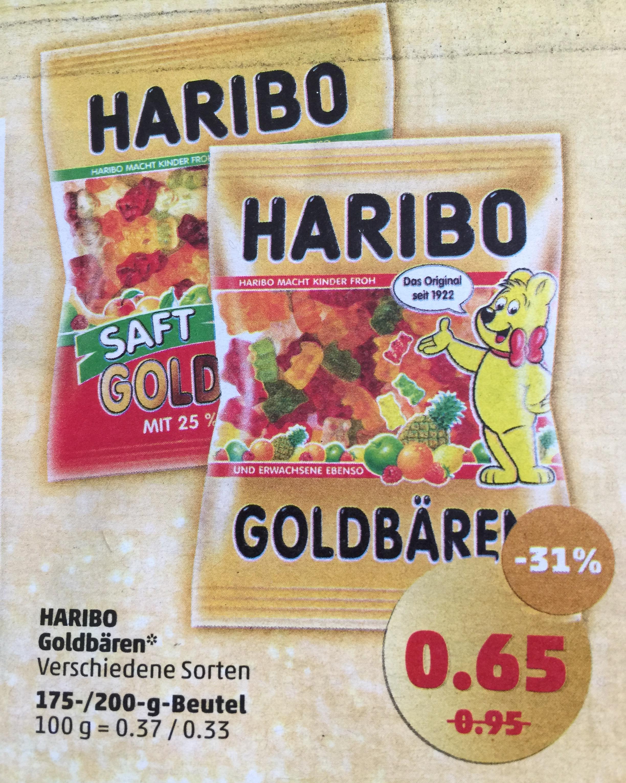 Haribo Goldbären verschiedene Sorten für 0,65€ [Penny]