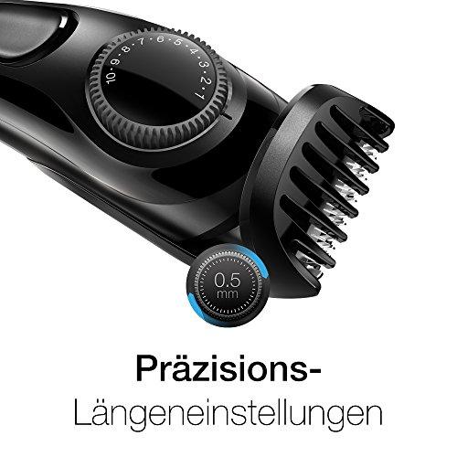 Braun Bartschneider BT3020, Barttrimmer zur Bartpflege, Bartstyler , schwarz