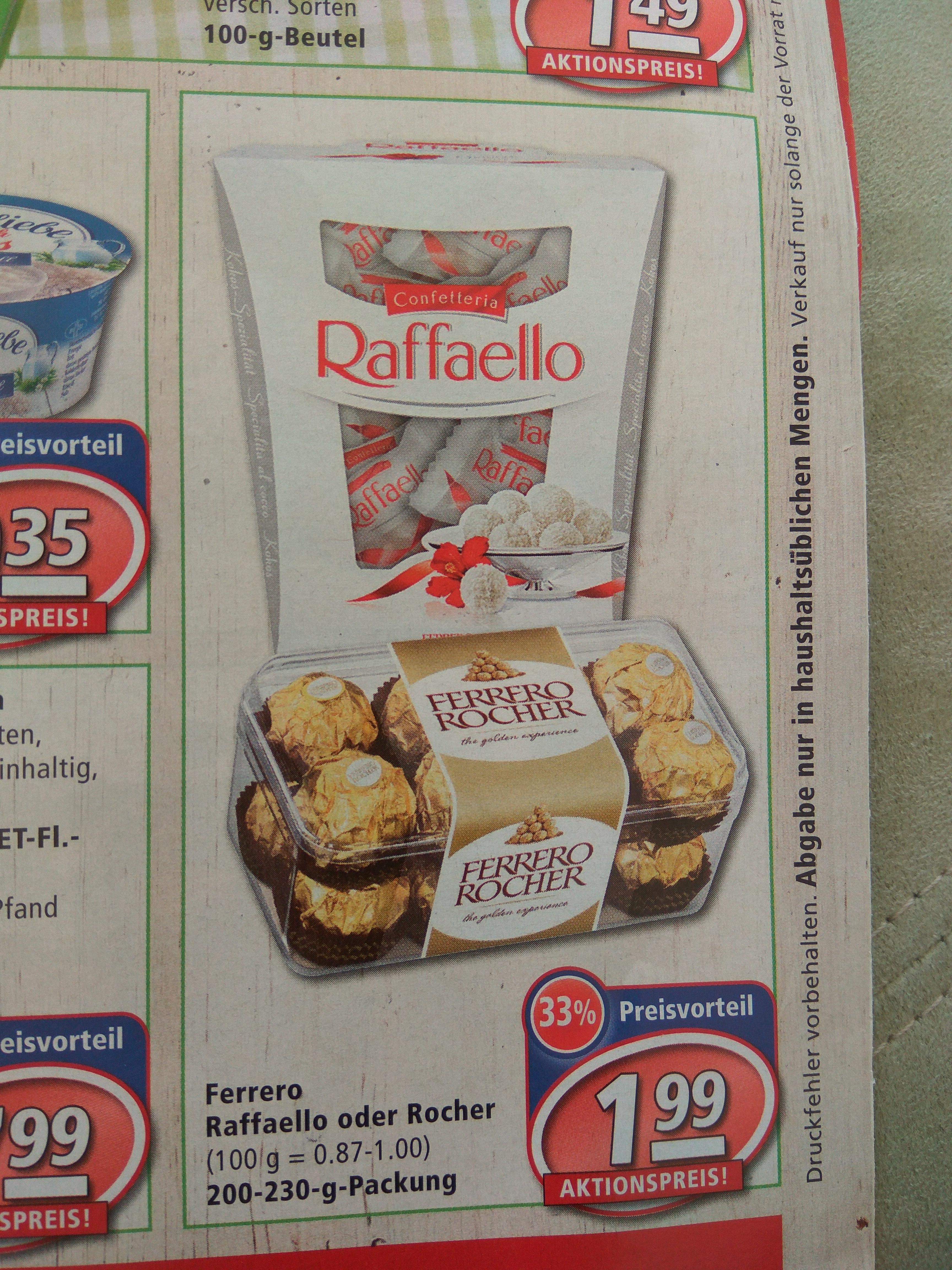 Ferrero Rocher oder Raffaello ,Rewe (Bayern) 27.3