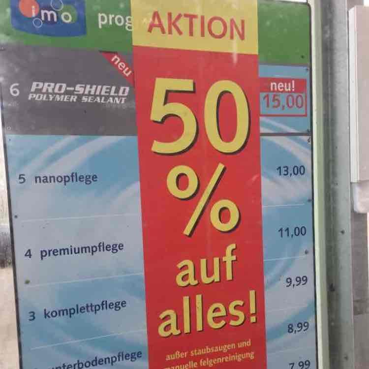 IMO Wash Halle Neustadt 50% auf alles