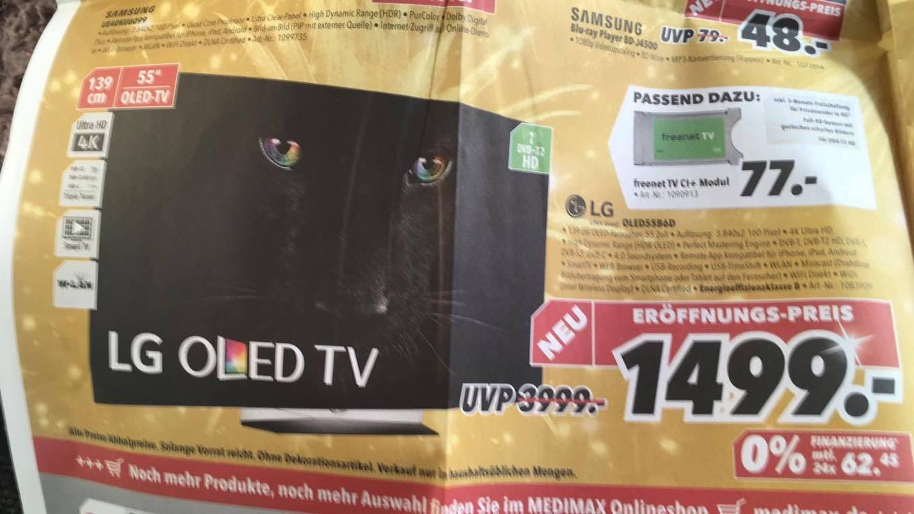 """LG OLED 4K 55"""" 1.499€ statt 3.999€ UVP (PVG: 2.349€) LOKAL LÜNEBURG"""