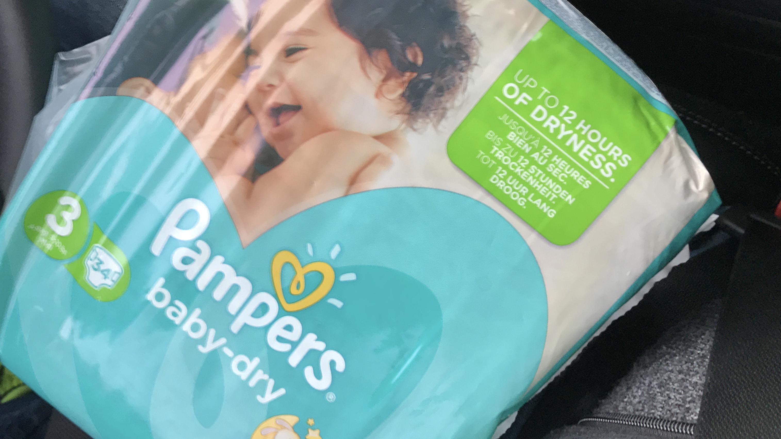 (NETTO Markendiscount) Pampers baby dry - Bspws. Größe 3 = 34 Stück oder Größe 4 = 30 Stück