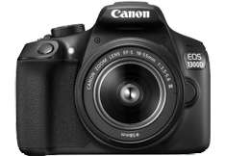 CANON EOS 1300 D + 18-55MM DFIN Spiegelreflexkamera 18 Megapixel f/3.5-5.6, 7.5 cm , WLAN, NFC bei Mediamarkt für 299 €