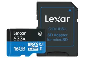 LEXAR Micro-SDHC, 16 GB, UHS Class 1, 95 MB/s für 8 € bei Mediamarkt