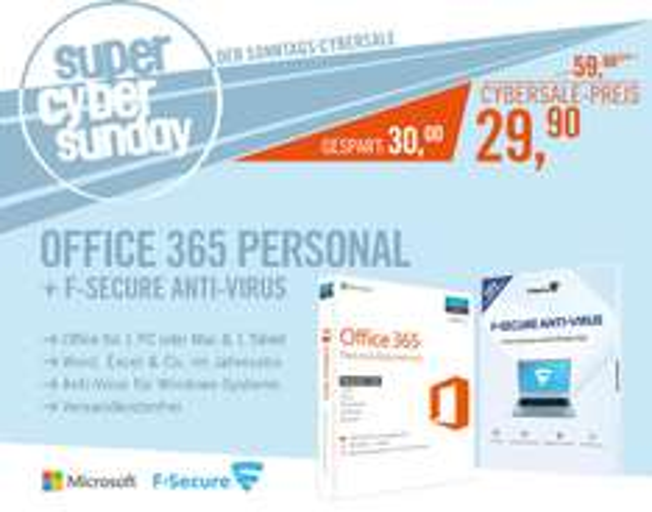 Office 365 Personal bei Cyberport VSK frei (AKTIV)  / (Saturn 27€ HOME Bundle abgelaufen)