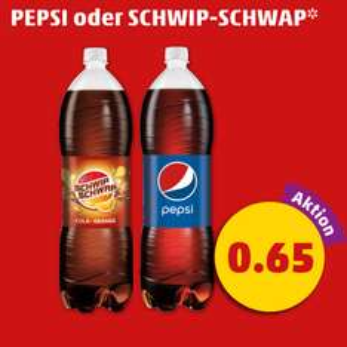 [Penny ab 31.03.] Pepsi oder Schwip Schwap 2 Liter für 0,65€ (0,33€/l)