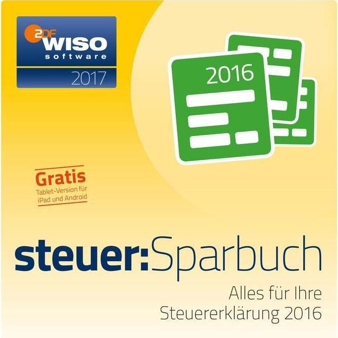 WISO steuer:Sparbuch 2017 (Windows/Mac) für 14,90€ bzw. 14,99€