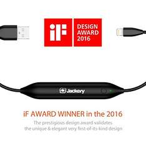 2 in 1 MFi zertifiziertes Ladekabel mit integrierter Batterie (als Powerbank, iF Design Auszeichnung 2016) für iPhone