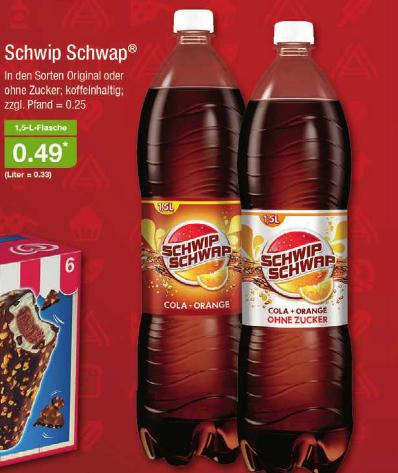 [Aldi Nord ab 07.04.] Schwip Schwap 1,5L für 0,49€