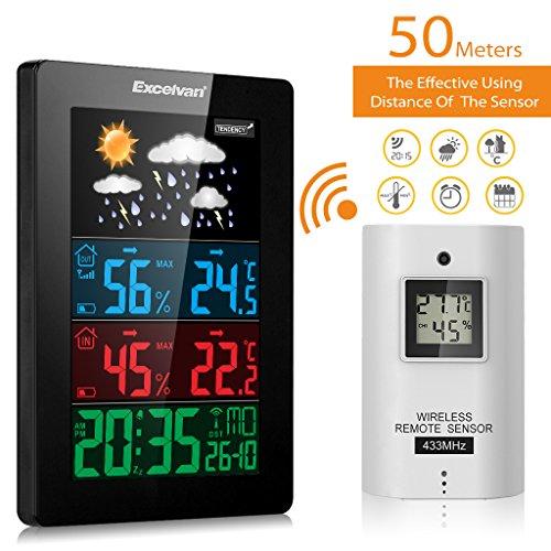 [Amazon] 1 Wetterstation (35,99 Euro) & 10% Rabatt für 2 Excelvan Wireless Wetterstation, gültig bis 31.03 (Kostenlose Lieferung)