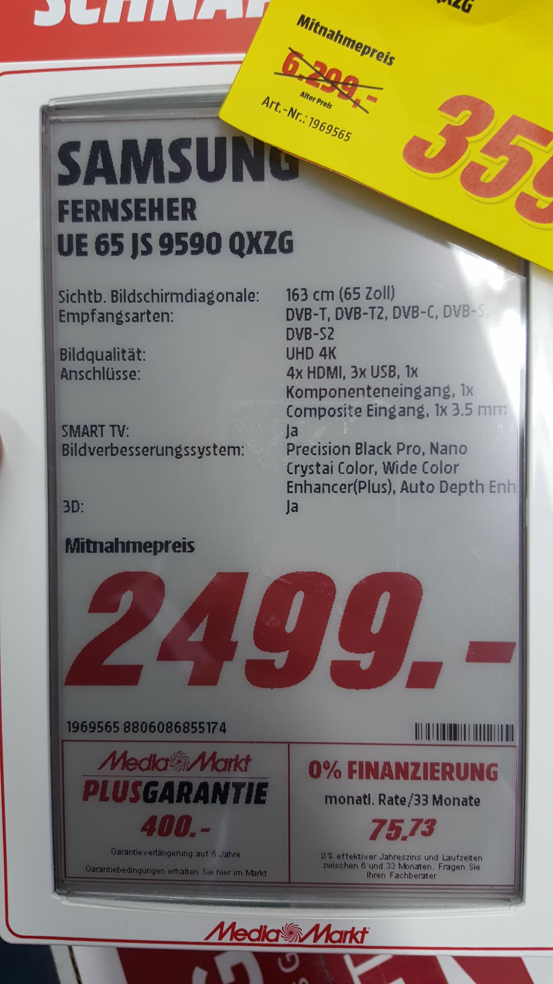 (LOKAL) Samsung UE65js9590 - Media Markt  Limburg