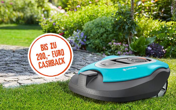 Bis zu 200€ Cashback für Gardena Sileno Mähroboter