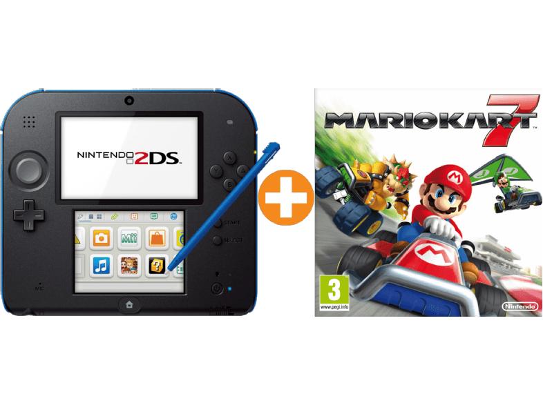 NINTENDO 2DS schwarz + Mario Kart 7 (vorinstalliert) Limited Edition Pack für 71€ (bei 2 Stück 66€) [saturn.at]