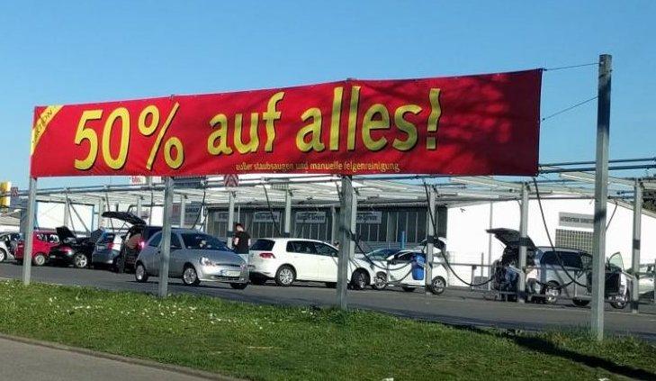 [lokal Schwetzingen] 50 % auf alle Autowäschen inkl Staubsaugen bei Imo
