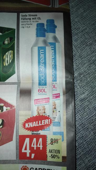 Sodastream 60 Liter Tauschzylinder für 4,44 € (Marktkauf Nord)