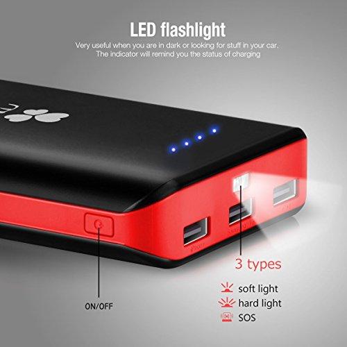 EC Technology 22400 mAh Externer Akku mit 3 USB Ausgängen