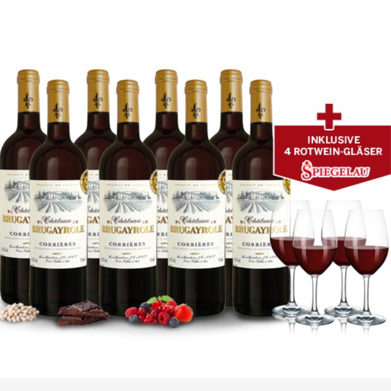 70% + gratis Versand auf goldprämierten Château Wein + 4 gratis Weingläser