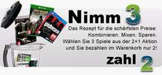 Nimm 3 - zahle nur 2 Games bei Gamesonly.at Aktion